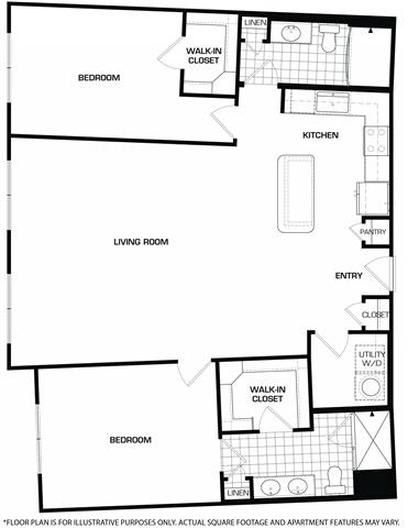 Floor Plan  Floorplan At Domain by Windsor,1755 Crescent Plaza, Houston, TX 77077