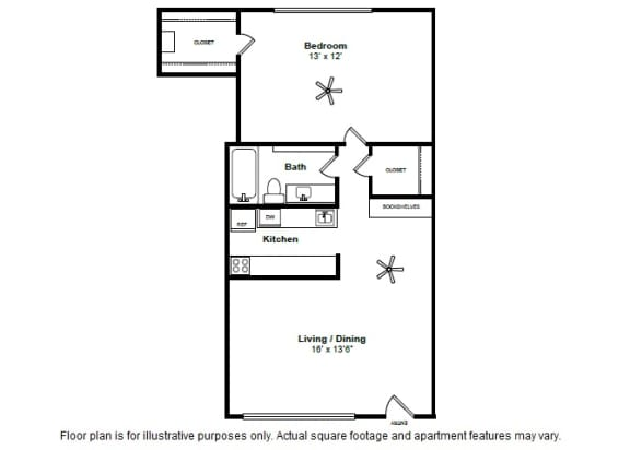 Floor Plan  Burgandy layout at Allen House Apartments, Texas, 77019, opens a dialog