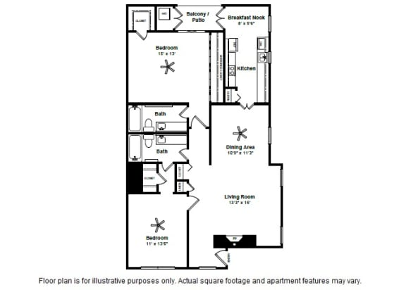 Floor Plan  Mardi Gras layout at Allen House Apartments, TX, 77019, opens a dialog