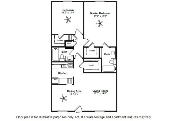 Floor Plan  Tulane layout at Allen House Apartments, 3433 West Dallas Street, TX, opens a dialog
