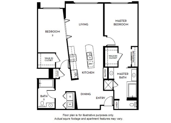 Floor Plan  Floorplan At 5550 Wilshire at Miracle Mile by Windsor, opens a dialog