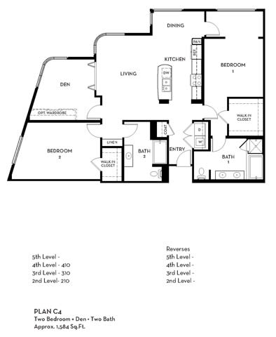 Floor Plan  Floorplan At 5550 Wilshire at Miracle Mile by Windsor, Los Angeles, CA, 90036, opens a dialog