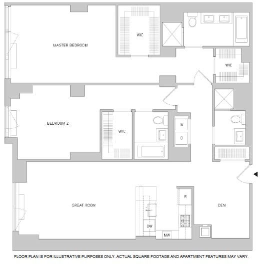 Floor Plan  2 bed 2 bath floor plan, opens a dialog