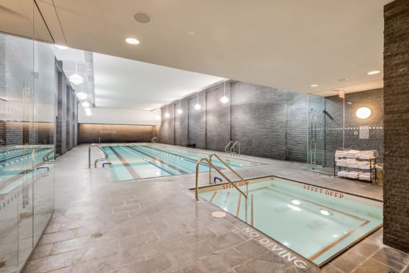 Pool and spa at The Aldyn, New York, NY
