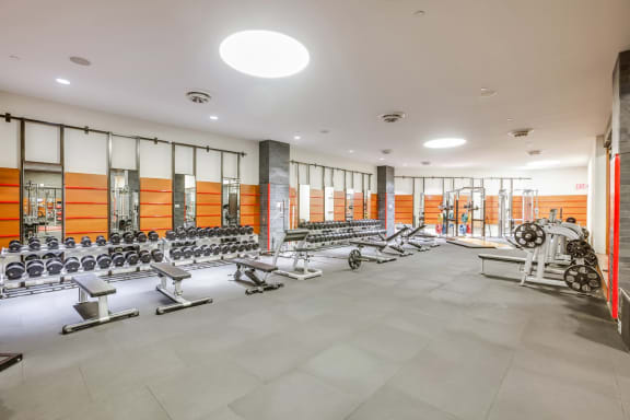 Fitness center at The Aldyn, NY, 10069