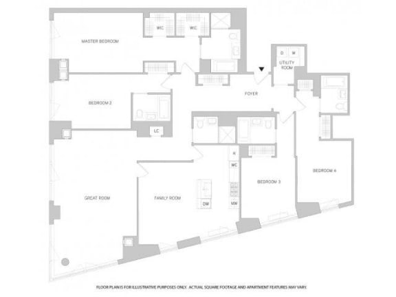 Floor Plan  4Br 5Bth 1 Floorplan at The Aldyn, opens a dialog