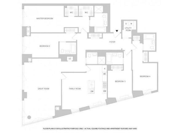 Floor Plan  4Br 5Bth 1 Floorplan at The Aldyn