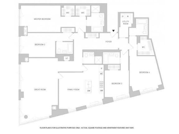 Floor Plan  4Br 5Bth 2 Floorplan at The Aldyn