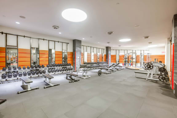 Fitness center at The Ashley, 400 W. 63rd Street, 10069