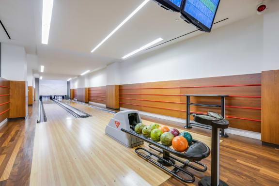 Bowling alley at The Ashley, NY, 10069