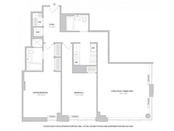 Floor Plan  2BR 2Bth - 4 Floorplan at The Ashley