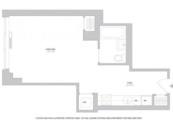 Floor Plan  Studio1 Floorplan at The Ashley