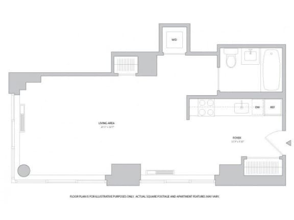 Floor Plan  Studio2 Floorplan at The Ashley