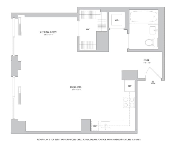 Floor Plan  Studio3 Floorplan at The Ashley