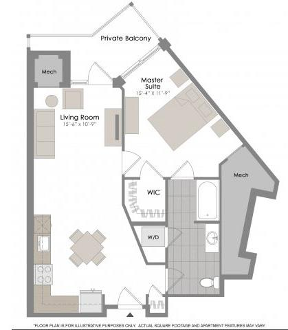 Floorplan at Twenty50 by Windsor, 2050 N. Central Rd., Fort Lee, NJ 07024