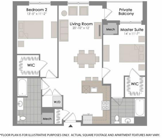 Floor Plan  Floorplan at Twenty50 by Windsor, 2050 N. Central Rd., Fort Lee, NJ 07024