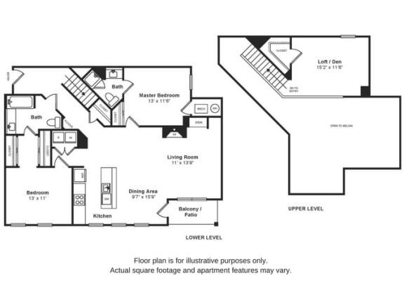 Floor Plan  Beacon Loft Floorplan at Windsor at Liberty House, opens a dialog