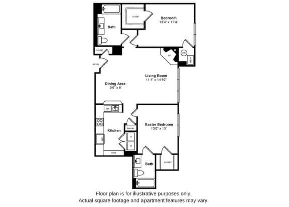 Floor Plan  Bishop Floorplan at Windsor at Liberty House, opens a dialog