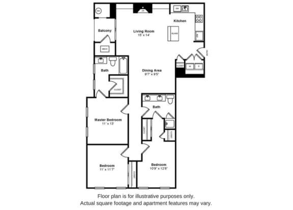 Floor Plan  Cambridge Floorplan at Windsor at Liberty House, opens a dialog