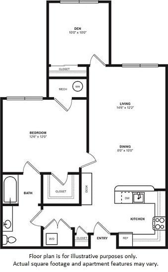 Floor Plan  Floorplan at Windsor at Liberty House, opens a dialog