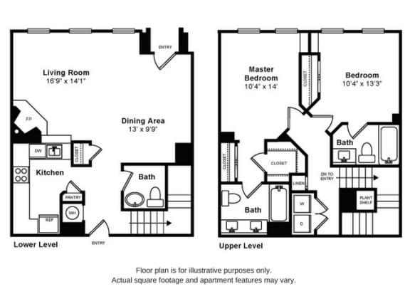 Floor Plan  Trecastle Floorplan at Windsor at Liberty House, opens a dialog