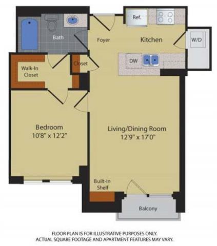 Floor Plan  Floorplan at Halstead Tower by Windsor, 4380 King Street, VA 22302, opens a dialog