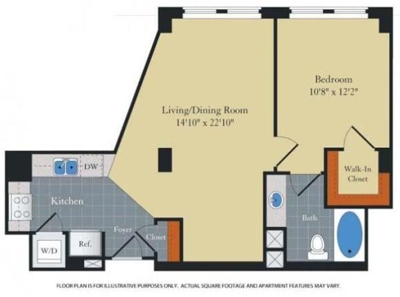 Floor Plan  Floorplan at Halstead Tower by Windsor, 4380 King Street, VA, opens a dialog