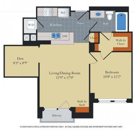 Floor Plan  Floorplan at Halstead Tower by Windsor, 4380 King Street, Alexandria, VA 22302, opens a dialog