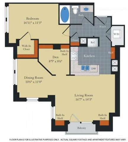 Floor Plan  Floorplan at Halstead Tower by Windsor, VA 22302, opens a dialog