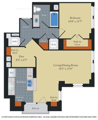 Floor Plan  Floorplan at Halstead Tower by Windsor, Alexandria, VA 22302, opens a dialog
