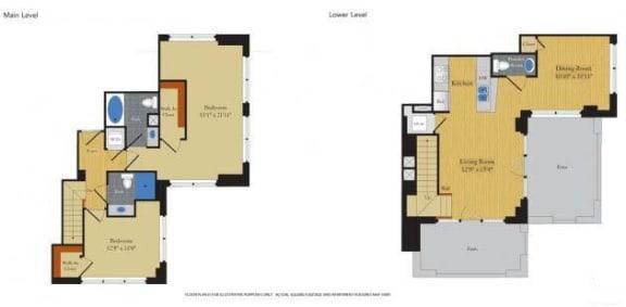 Floor Plan  Floorplan at Halstead Tower by Windsor, 4380 King Street, Alexandria, VA, opens a dialog