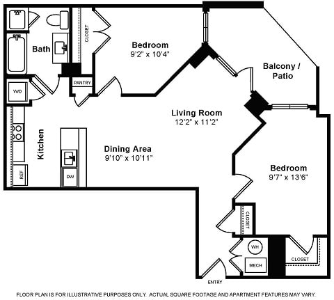 Floor Plan  Floor Plans at IO Piazza by Windsor, opens a dialog