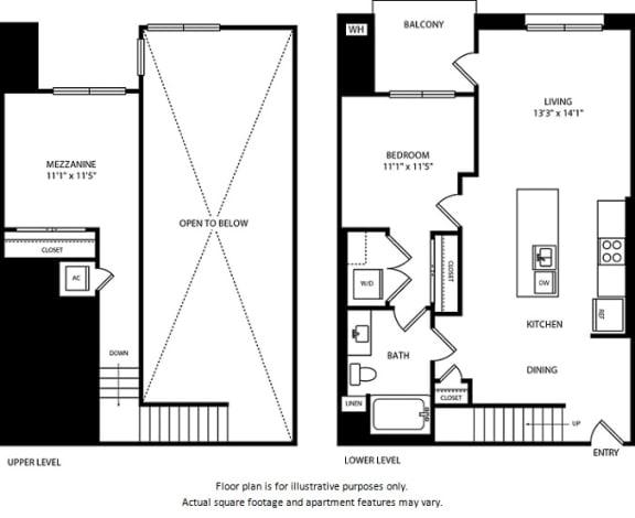 Floor Plan  Floorplan at Boardwalk by Windsor, Huntington Beach, 92647, opens a dialog