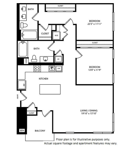 Floor Plan  Floorplan at Boardwalk by Windsor, Huntington Beach, CA 92647, opens a dialog