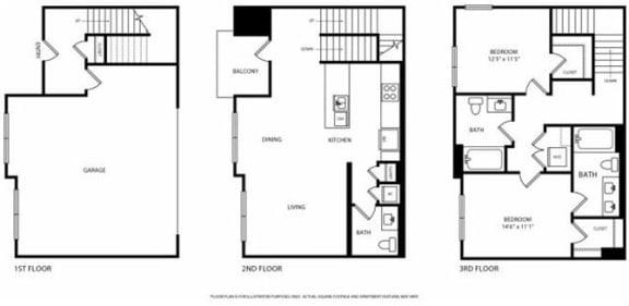 Floor Plan  Floorplan at Boardwalk by Windsor, Huntington Beach, CA, 92647, opens a dialog
