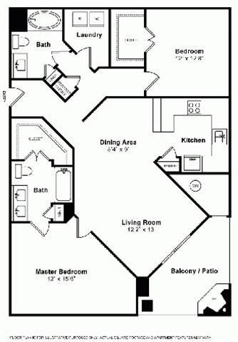 Floor Plan  Floorplan at Windsor at Main Place, Orange, CA, 92868, opens a dialog