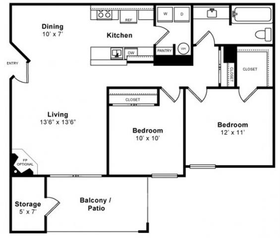 Floor Plan  Beautiful Floorplan at Mission Pointe by Windsor,  Sunnyvale, CA, 94089