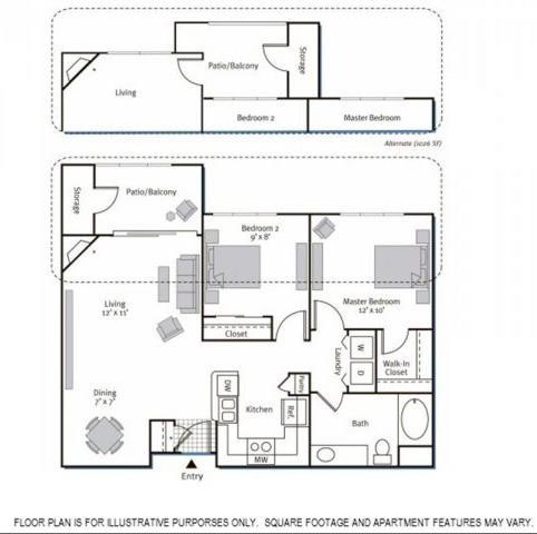 Floor Plan  Floorplan at Pavona Apartments, 760 N. 7th Street, San Jose, CA, 95112