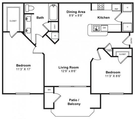 Floor Plan  Mulberry Floorplan at Windsor at Redwood Creek