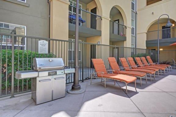 BBQ Grills Besides Relaxing Chairs at Villa Montanaro,203 Coggins Drive Pleasant Hill, California, 94523