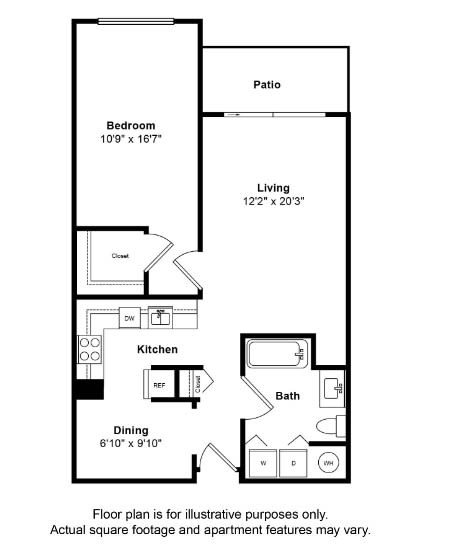 Floor Plan  Camano Floor Plan at Tera Apartments