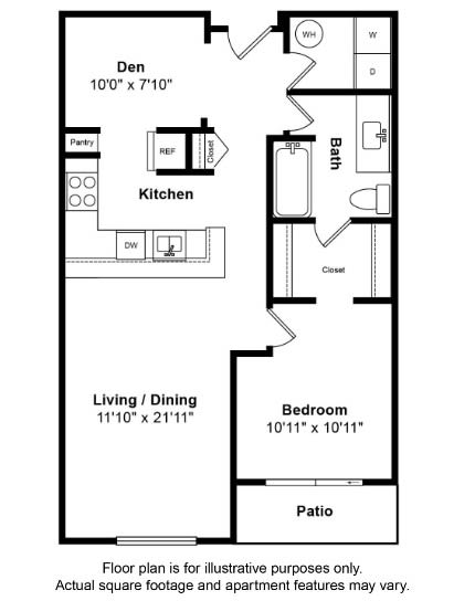 Floor Plan  Catalina Floor Plan at Tera Apartments