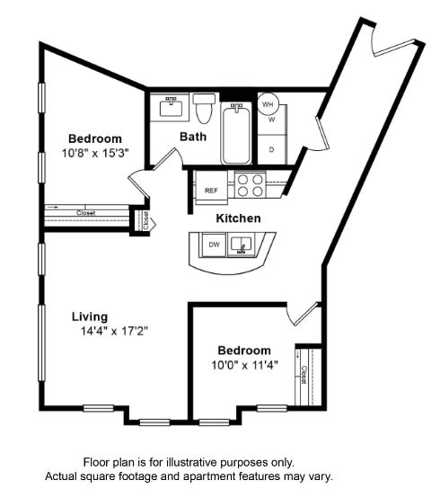 Floor Plan  San Clemente Floor Plan at Tera Apartments