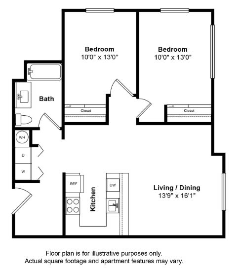 Floor Plan  San Miguel Floor Plan at Tera Apartments