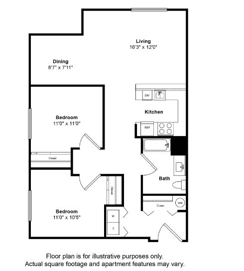 Floor Plan  South Pacific Floor Plan at Tera Apartments