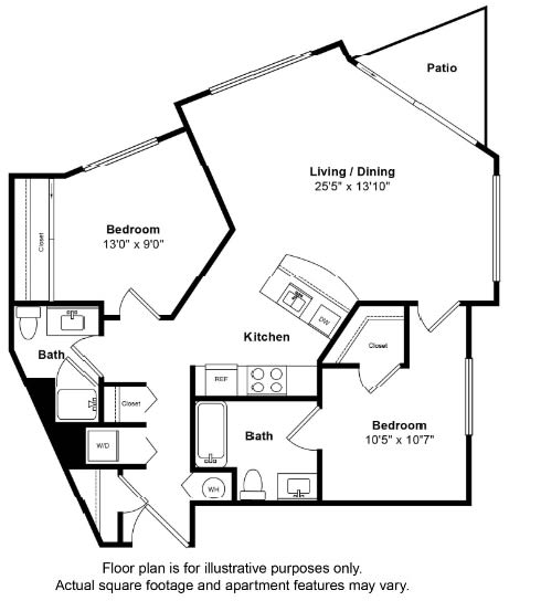 Floor Plan  St Croix Floor Plan at Tera Apartments