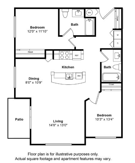 Floor Plan  St John Floor Plan at Tera Apartments