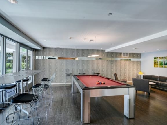 Clubhouse With Billiards Table at  Windsor at The Gramercy, 2 Canfield Ave., 10601