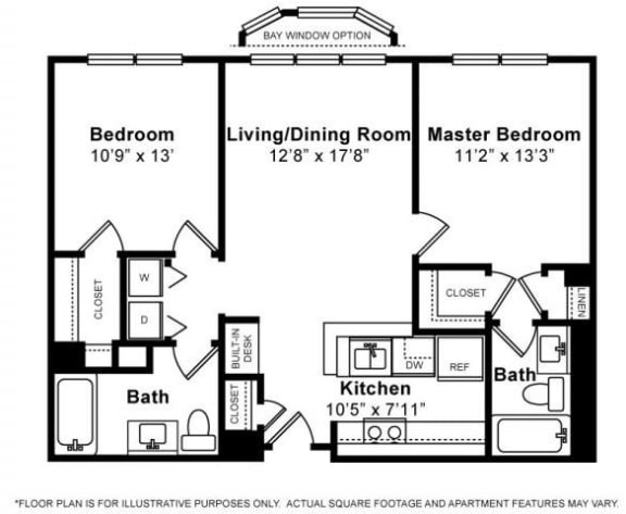 Floor Plan  Floorplan at Windsor at The Gramercy, 2 Canfield Ave., White Plains, NY 10601