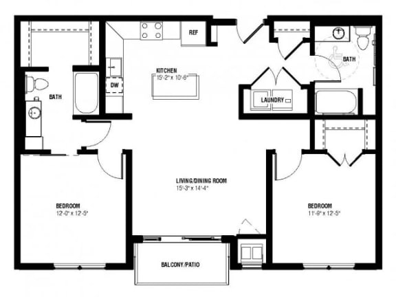 Floor Plan  Neo Floor Plan (2 beds, 2 baths, 1056 sq.ft, rent $2,045/month)